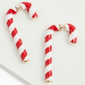 🆕Holiday Red White Candy Cane Earrings Christmas
